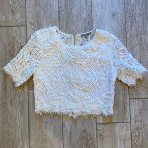 Charlotte Russe crochet blouse
